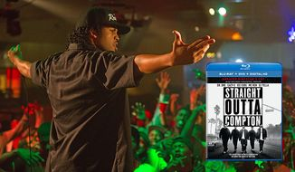 "O'Shea Jackson, Jr. plays Ice Cube in ""Straight Outta Compton,"" now available on Blu-ray from Universal Studios Home Entertainment."