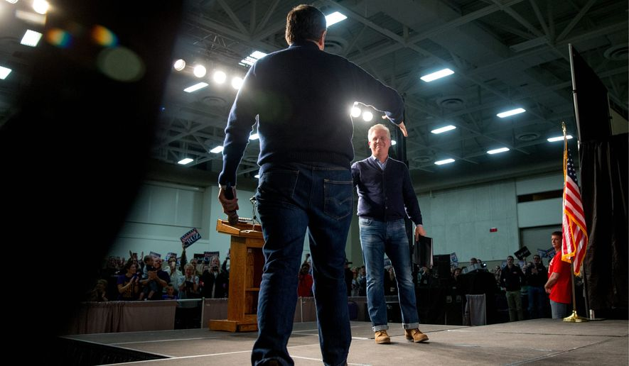 Republican presidential candidate Sen. Ted Cruz (left) was endorsed by radio and television personality Glenn Beck (right) over the weekend. (Associated Press)