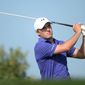 Jordan Spieth of the United States tees off at the third hole during the second round of the Abu Dhabi HSBC Golf Championship in Abu Dhabi, United Arab Emirates, Friday, Jan. 22, 2016. (AP Photo/Martin Dokoupil)