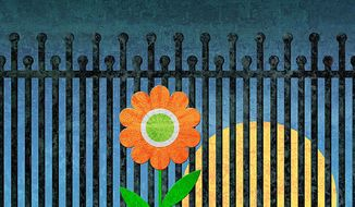 Flower in the Graveyard Illustration by Greg Groesch/The Washington Times
