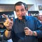 Sen. Ted Cruz has embraced the campaign blitz and will appear at seven rallies on Tuesday alone with Rick Perry, Rep. Steven King and Bob Vander Plaatz. (Associated Press)
