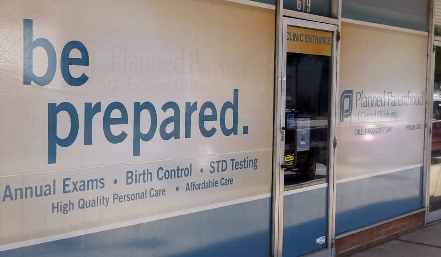 The entrance to a Planned Parenthood clinic is pictured in Oklahoma City. (Associated Press)