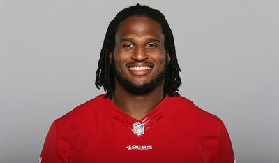 San Francisco 49ers DT Ray McDonald-Accused of assaulting a woman while she was holding a baby in Santa Clara, CA. (AP Photo)