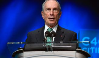 In this Dec. 3, 2015, file photo, former New York Mayor Michael Bloomberg speaks during the C40 cities awards ceremony, in Paris. Bloomberg is taking some early steps toward launching a potential independent campaign for president. That's according to three people familiar with the billionaire media executive's plans. They spoke on condition of anonymity because they weren't authorized to speak publicly for Bloomberg. (AP Photo/Thibault Camus, File)