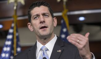House Speaker Paul D. Ryan acknowledges that his approach, which will force more confrontations with the White House, is designed to show voters what's at stake in the presidential race. (Associated Press)