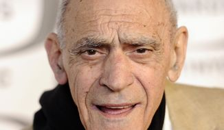 """In this April 10, 2011, file photo, actor Abe Vigoda arrives at the 2011 TV Land Awards in New York.  Vigoda, whose leathery, sunken-eyed face made him ideal for playing the over-the-hill detective Phil Fish in the 1970s TV series """"Barney Miller"""" and the doomed Mafia soldier in """"The Godfather,"""" died in his sleep Tuesday, Jan. 26, 2016, at his daughter's home in Woodland Park, N.J. He was 94. (AP Photo/Peter Kramer, File)"""