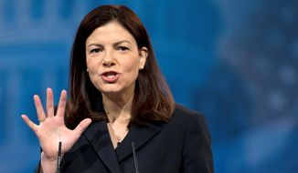Sen. Kelly Ayotte, New Hampshire Republican (Associated Press) **FILE**