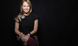 """Journalist Katie Couric poses for a portrait to promote the film, """"Under the Gun"""", at the Toyota Mirai Music Lodge during the Sundance Film Festival on Tuesday, Jan. 26, 2016 in Park City, Utah. (Photo by Matt Sayles/Invision/AP)"""