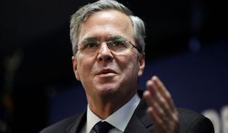 Despite sending out many campaign fliers, the effort hasn't help Republican presidential candidate Jeb Bush gain on front-runner Donald Trump. (Associated Press)