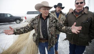 "Robert ""LaVoy"" Finicum was fatally shot on Tuesday as authorities arrested seven refuge occupiers, including group leader Ammon Bundy, after a traffic stop. (Associated Press)"