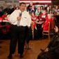 "Republican presidential candidate Chris Christie, in one of his final campaign pitches before the Iowa caucuses, compares his leadership credentials as New Jersey governor with that of Donald Trump, ""whose only experience is being in a fake boardroom in New York City looking into a camera and saying, 'You're fired.'"" (Associated Press/File)"