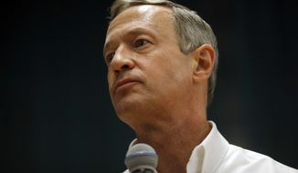 """According to CNN, Martin O'Malley was receiving no measurable support in Monday night's Iowa caucuses, struggling to stay ahead of """"uncommitted."""" (Associated Press)"""