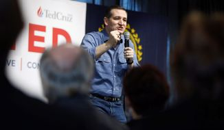The heat of the Iowa race carried over to New Hampshire, where Sen. Ted Cruz sharpened his attacks on Sen. Marco Rubio and businessman Donald Trump over immigration. (Associated Press)