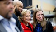 Democratic presidential candidate Hillary Clinton and daughter Chelsea attended Iowa's African-American Festival, I'll Make Me a World Celebration Day, last month before the nominating contests began. (Associated Press)
