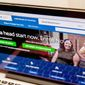 FILE - In this Oct. 6, 2015 file photo, the HealthCare.gov website, where people can buy health insurance, is displayed on a laptop screen in Washington. Sunday night is the sign-up deadline for subsidized private health insurance under President Barack Obama's health care law.  (AP Photo/Andrew Harnik, File)