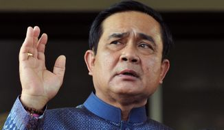 Washington's overtures to Thai Prime Minister Prayuth Chan-ocha may be a hedge against Chinese ambitions in the Pacific region. (Associated Press)