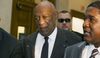 Actor and comedian Bill Cosby arrives for a court appearance Wednesday in Norristown, Pa. (Associated Press)
