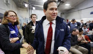 After a strong third-place finish in Iowa, Republican presidential candidate Marco Rubio is getting a second look from voters in New Hampshire before the first-in-the-nation presidential primary on Tuesday. (Associated Press)