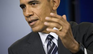 "President Barack Obama speaks about the economy, Friday, Feb. 5, 2016, during a news conference in the Brady Press Briefing Room of the White House in Washington. The president said the U.S. has ""the strongest, most durable economy in the world."" He pointed to wage and income growth, job growth, lower oil prices and increasing health insurance as evidence.  (AP Photo/Pablo Martinez Monsivais)"