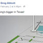Texas Gov. Greg Abbott's remarks on his Facebook page, regarding the planned construction of an immense cross in Corpus Christi, Texas. ** FILE **
