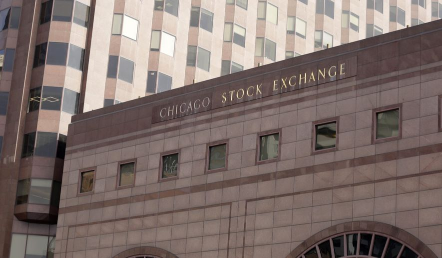 This Friday, Feb. 5, 2016, shows the building that houses the Chicago Stock Exchange in Chicago. The Chicago Stock Exchange, which was founded more than a century ago, is being bought by an investor group led by a Chinese company. The deal is expected to close in the second half of the year, but first needs approval from the U.S. Securities and Exchange Commission. (AP Photo/M. Spencer Green)