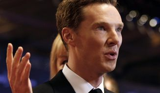 FILE - In this Wednesday, April 15, 2015 file photo, British actor Benedict Cumberbatch arrives to host the Laureus World Sports Awards in Shanghai, China. Benedict Cumberbatch and Emma Watson have got new roles: Visiting fellows at Oxford University, it was announced Saturday, Feb. 6, 2016. The actors are among 11 non-academics to have accepted appointments at Oxford's Lady Margaret Hall. Visiting fellows are normally appointed for three years, and are encouraged to visit, dine, debate or perform at the college. (AP Photo, File)