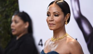 Jada Pinkett Smith arrives at the 47th NAACP Image Awards at the Pasadena Civic Auditorium on Friday, Feb. 5, 2016, in Pasadena, Calif. (Photo by Chris Pizzello/Invision/AP)