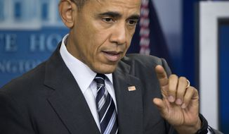"""President Barack Obama speaks about the economy, Friday, Feb. 5, 2016, during a news conference in the Brady Press Briefing Room of the White House in Washington. The president said the U.S. has """"the strongest, most durable economy in the world."""" He pointed to wage and income growth, job growth, lower oil prices and increasing health insurance as evidence. (AP Photo/Pablo Martinez Monsivais)"""
