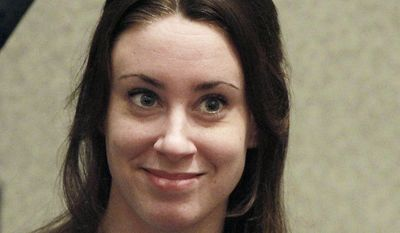 Casey Anthony smiles before the start of her sentencing hearing on July 7, 2011, in Orlando, Fla. (Associated Press)