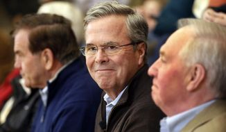 Republican presidential candidate former Florida Gov. Jeb Bush during a campaign event Friday, Feb. 5, 2016, in Concord,NH (AP Photo/Jim Cole)