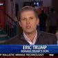Donald Trump's 32-year-old son Eric Trump defended his father's comments in support of waterboarding, arguing that the interrogation technique is no different from what happens on college campuses every day. (Fox News)