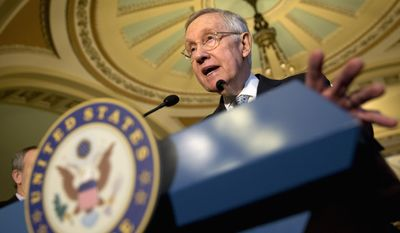 """""""Deportation means death for some of these people,"""" said Senate Minority Leader Harry Reid, defending the Democrats' wishes to provide free immigration attorneys for illegals threatened with dismissal out of the U.S. (Associated Press)"""