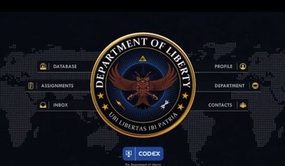 """The video game """"Need to Know"""" takes players through various levels of the fictional """"Department of Liberty,"""" modeled after the NSA. (Image: Screenshot from Kickstarter)."""