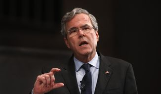 Republican presidential candidate, former Florida Gov. Jeb Bush speaks during a Faith and Family Presidential Forum at Bob Jones University, Friday, Feb. 12, 2016, in Greenville, S.C. (AP Photo/Paul Sancya)
