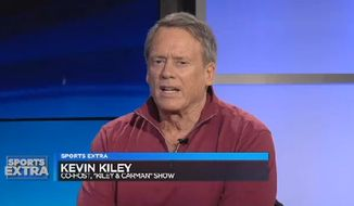 """Kevin Kiley, one of two hosts of """"Kiley & Carman,"""" a morning show on CBS Radio's 92.3 The Fan, accused the network of censorship on-air Thursday night while announcing his resignation. (CBS Cleveland)"""