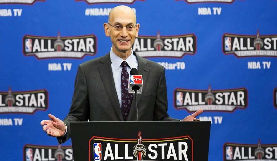 NBA Commissioner Adam Silver speaks before the NBA all-star skills competition in Toronto on Saturday, Feb. 13, 2016. (Mark Blinch/The Canadian Press via AP) ** FILE **