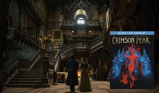 "Guillermo del Toro's haunting gothic romance co-starring Allerdale Hall arrives on Blu-ray in ""Crimson Peak,"" now available from Universal Studios Home Entertainment."
