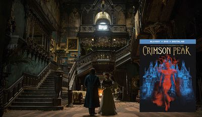 """Guillermo del Toro's haunting gothic romance co-starring Allerdale Hall arrives on Blu-ray in """"Crimson Peak,"""" now available from Universal Studios Home Entertainment."""