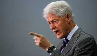 Former President Bill Clinton peppered his speech referencing Hillary Clinton's work for minorities. He pushed gun control and environmental policies he claimed will save minorities' lives. (Associated Press)