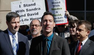 "In a statement released after the indictment, David Daleiden argued that the Center for Medical Progress ""uses the same undercover techniques that investigative journalists have used for decades in exercising our First Amendment rights to freedom of speech and of the press, and follows all applicable laws."" (Associated Press) ** FILE **"