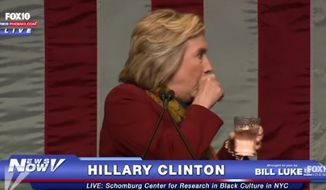 """Drudge Report creator Matt Drudge slammed what he called a """"media coverup"""" of Hillary Clinton's """"flaring hypothyroidism"""" after the Democratic candidate suffered another coughing fit on the campaign trail. (FOX 10) ** FILE **"""