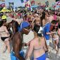 The annual spring party in Panama City Beach, Florida, has been reined in with laws that local businesses and patrons say are illegal. (Panama City, Florida, News Herald via Associated Press) ** FILE **