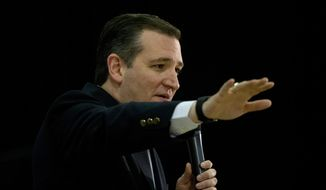 Sen. Ted Cruz of Texas noticeably toughened his stance on immigration Monday night. (Associated Press)