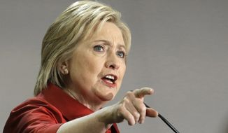 In this Feb. 20, 2016, file photo, Democratic presidential candidate Hillary Clinton speaks at Texas Southern University in Houston. (AP Photo/Pat Sullivan, File)