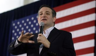 Republican presidential candidate, Sen. Ted Cruz, R-Texas, speaks at a rally Monday, Feb. 22, 2016, in Reno, Nev. (AP Photo/Marcio Jose Sanchez)