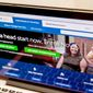 "FILE - In this Oct. 6, 2015, file photo, the HealthCare.gov website, where people can buy health insurance, is displayed on a laptop screen in Washington. Congressional investigators say the Obama administration has taken a ""passive"" approach to identifying potential fraud involving the president's health care law. (AP Photo/Andrew Harnik, File)"