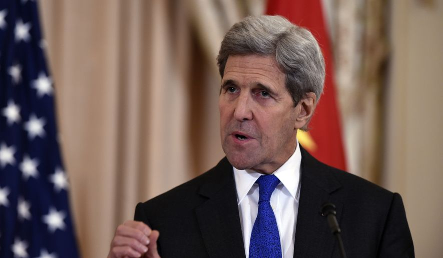 Secretary of State John Kerry. (AP Photo/Susan Walsh) ** FILE **