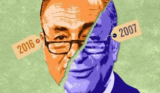 The Schumer SCOTUS Appointment Waffle Illustration by Greg Groesch/The Washington Times