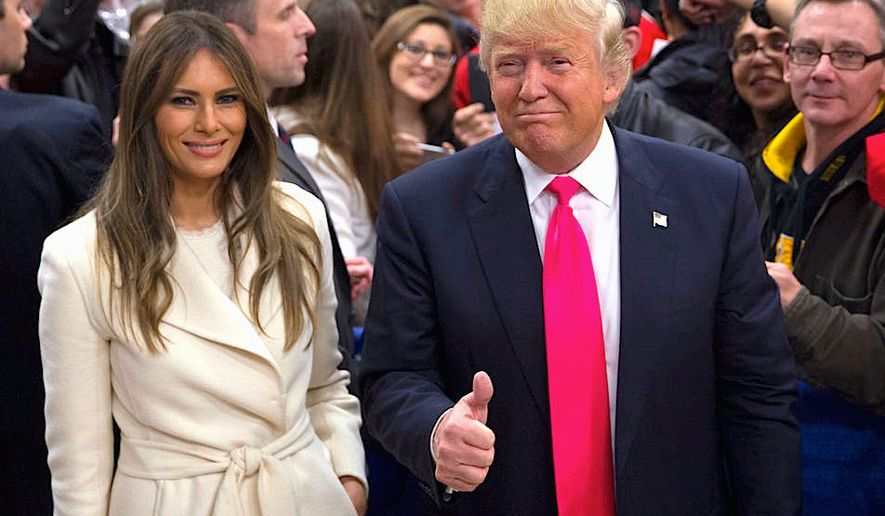 Melania Trump says that other immigrants should seek to legally enter and stay in the United States, just as she herself did. (Associated Press)