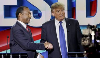 Ben Carson's endorsement marks the second time a former GOP White House rival has backed Donald Trump. (Associated Press)